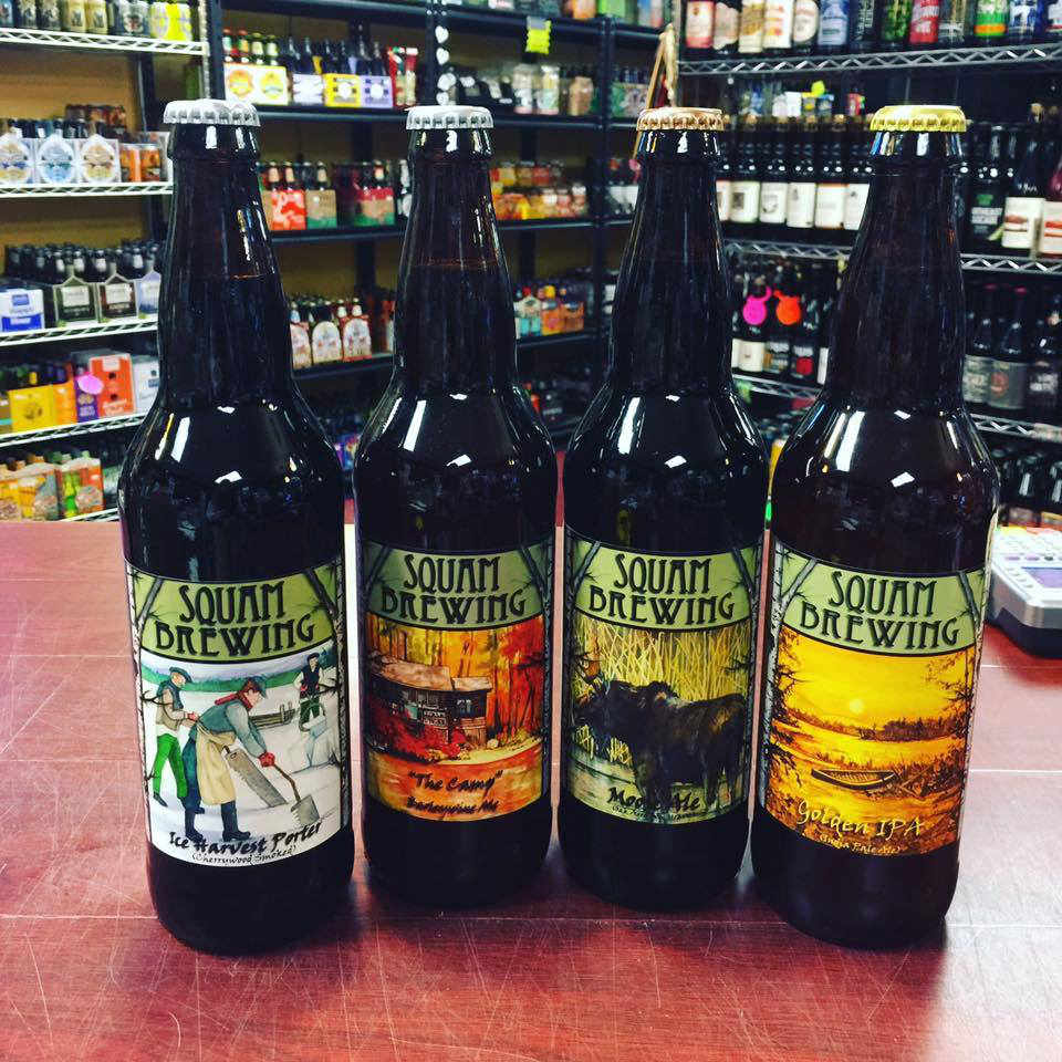 Microbrewery beer bottles Squam Brewing Holderness New Hampshire United States Ulocal Local Product Local Purchase