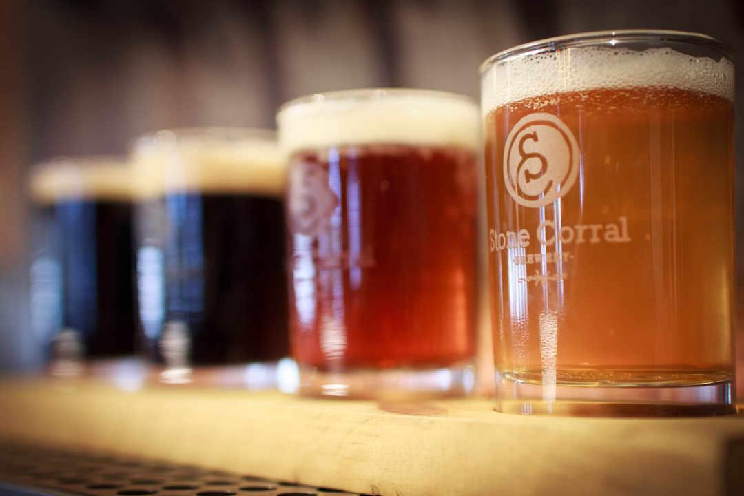 Microbrasserie verres de bière Stone Corral Brewery Richmond Vermont États-Unis Ulocal produit local achat local