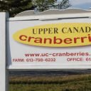 Produce Market sign Upper Canada Cranberries Osgoode Ontario Canada Ulocal Local Product Local Purchase