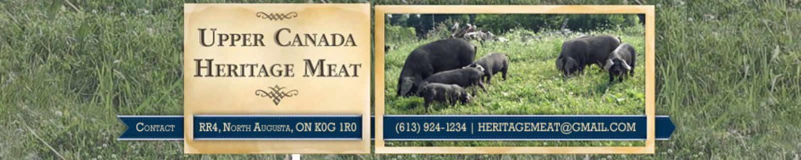 Vente de viande logo Upper Canada Heritage Meat Elizabethtown-Kitley Ontario Canada Ulocal produit local achat local