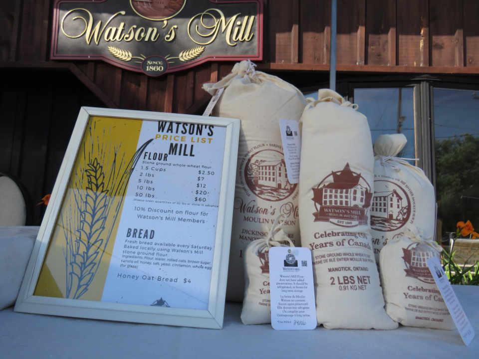 Alimentation farine Watson's Mill Manotick Ontario Canada Ulocal produit local achat local