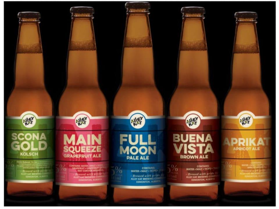 microbrasseries 5 bières artisanales en bouteille alley kat brewery edmonton alberta canada ulocal produits locaux achat local produits du terroir locavore touriste