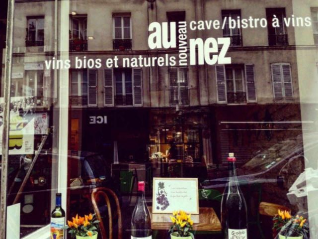 Alcohol wine bar organic restaurant Au nouveau nez Paris France Wine shop Ulocal local product local purchase