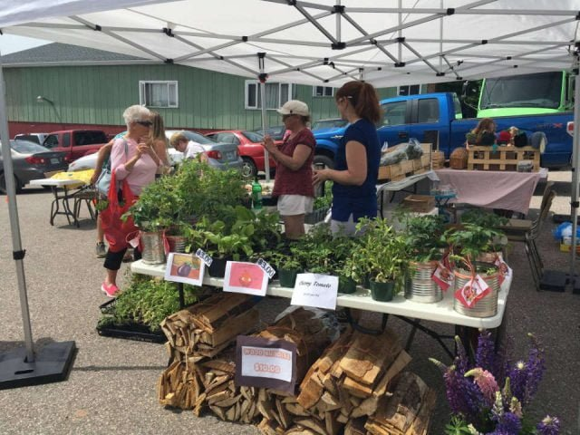 public markets outside kiosk local products people shopping baddeck farmers market baddeck nova scotia canada ulocal local products local purchase local produce locavore tourist