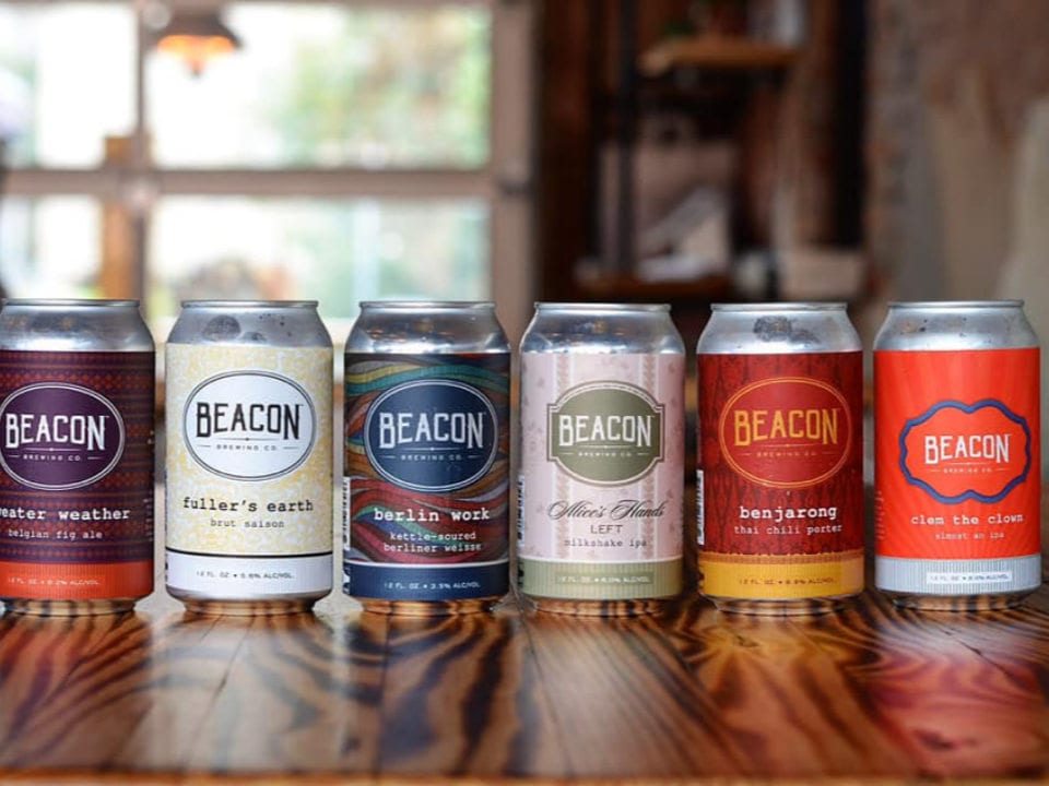 microbreweries 6 cans of craft beer of different kinds beacon brewing co lagrange united states ulocal local products local purchase local produce locavore tourist