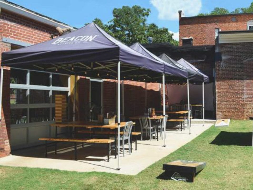 microbreweries beautiful terrace with tables and umbrellas beacon brewing co lagrange united states ulocal local products local purchase local produce locavore tourist