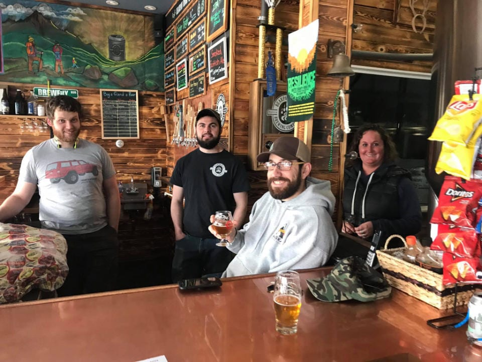 microbreweries brewery crew at the tasting bar bearpaw river brewing company wasilla alaska united states ulocal local products local purchase local produce locavore tourist