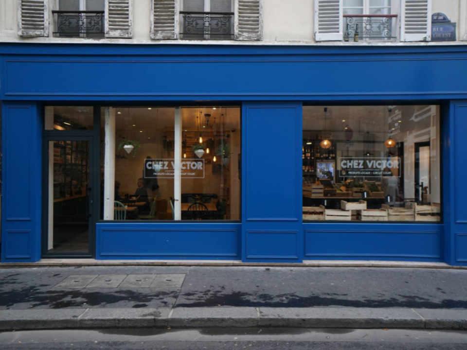 Restaurant boutique d'aliments biologiques Chez Victor Paris France Ulocal produit local achat local produit du terroir