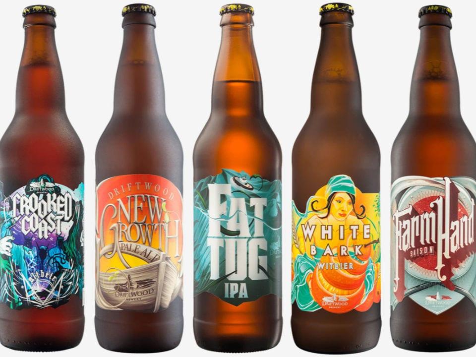 microbrasseries cinq bouteilles bière artisanale driftwood brewery victoria colombie britannique canada ulocal produits locaux achat local produits du terroir locavore touriste
