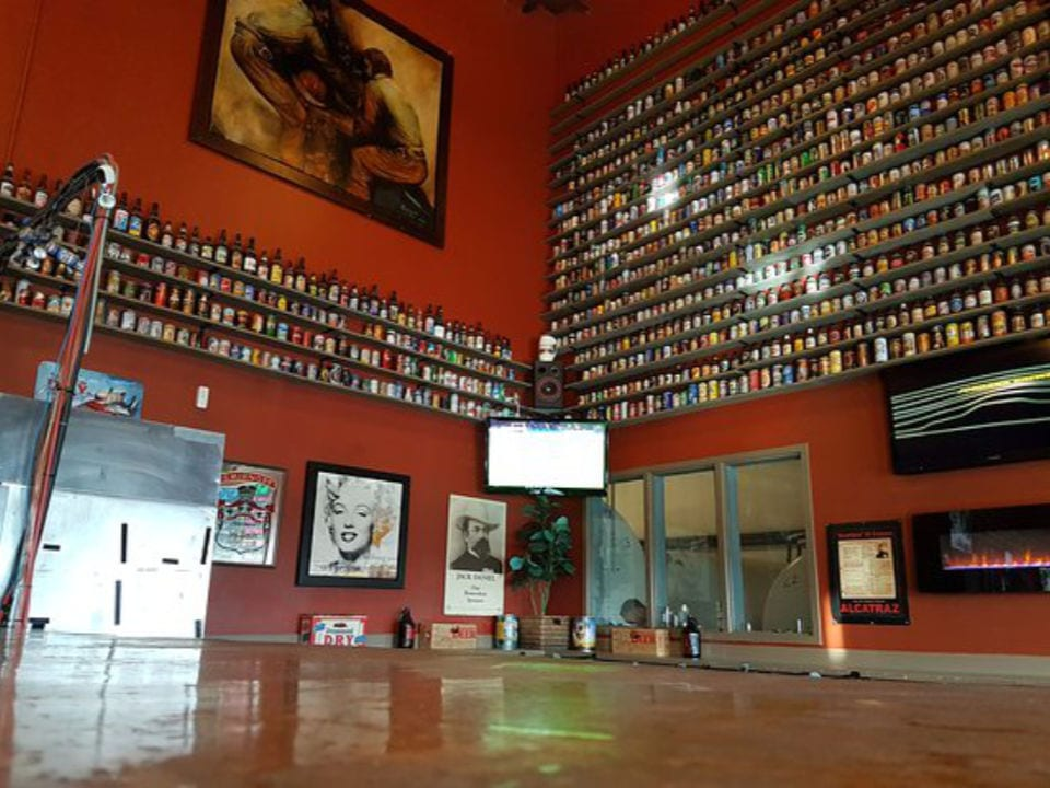 microbreweries tasting bar beer collection on the red wall drummond brewery red deer alberta canada ulocal local products local purchase local produce locavore tourist