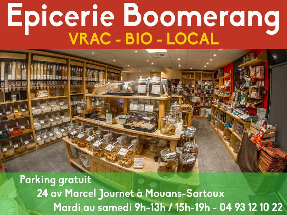 Organic Grocery Grocery Boomerang Mouans-Sartoux Provence-Alpes-Cote d'Azur France Ulocal local produce local purchase local produce