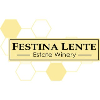 vineyard logo festina lente estate winery langley british colombia canada ulocal local products local purchase local produce locavore tourist