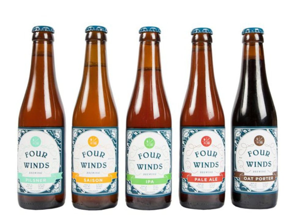 microbreweries five bottles craft beer four winds brewing co delta british columbia canada ulocal local products local purchase local produce locavore tourist