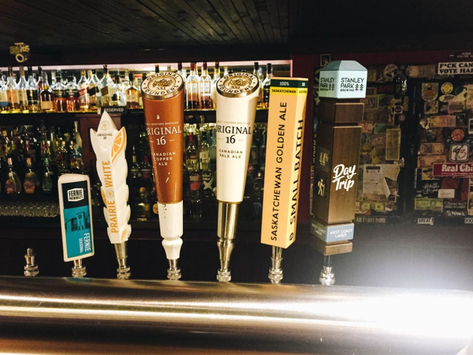 microbreweries handcrafted beer dispenser at the tasting bar great western brewing saskatoon saskatchewan canada ulocal local products local purchase local produce locavore tourist