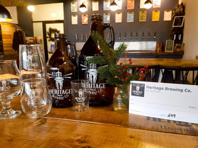 microbreweries restaurant event gathering friends taproom bar can glass draft beer heritage brewing yarmouth nova scotia canada ulocal local products local purchase local produce locavore tourist