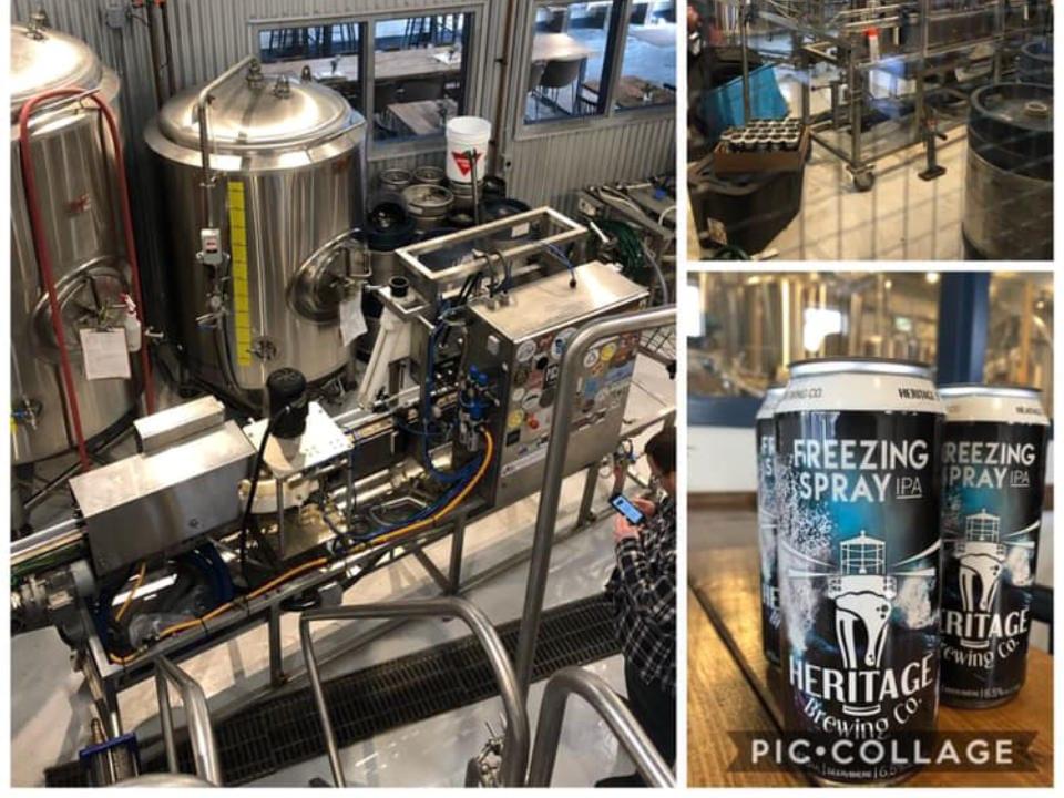 microbrasseries usine de fabrication de bière artisanale cannette bière draft heritage brewing co yarmouth nouvelle-écosse canada ulocal produits locaux achat local produits du terroir locavore touriste