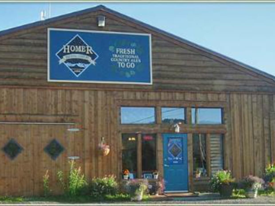 microbreweries wooden outdoor building with blue door homer brewing company homer alaska united states ulocal local products local purchase local produce locavore tourist