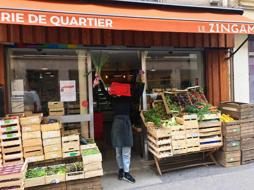 Marché de fruits et légumes biologiques Le Zingam Paris France Ulocal produit local achat local produit du terroir