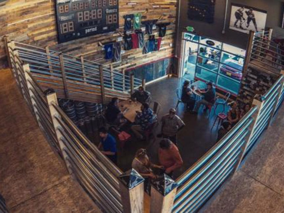 microbreweries tasting room and store on 2 floors with guests on the first floor odd man rush brewing eagle river alaska united states ulocal local products local purchase local produce locavore tourist