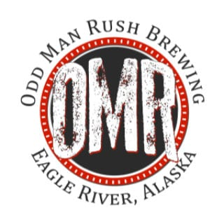 microbreweries logo odd man rush brewing eagle river alaska united states ulocal local products local purchase local produce locavore tourist