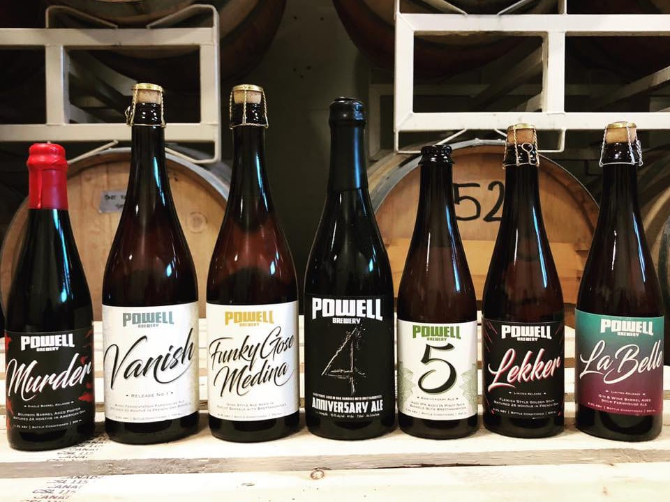 microbrasseries sept sortes de bières bouteille powell brewery vancouver colombie britannique canada ulocal produits locaux achat local produits du terroir locavore touriste