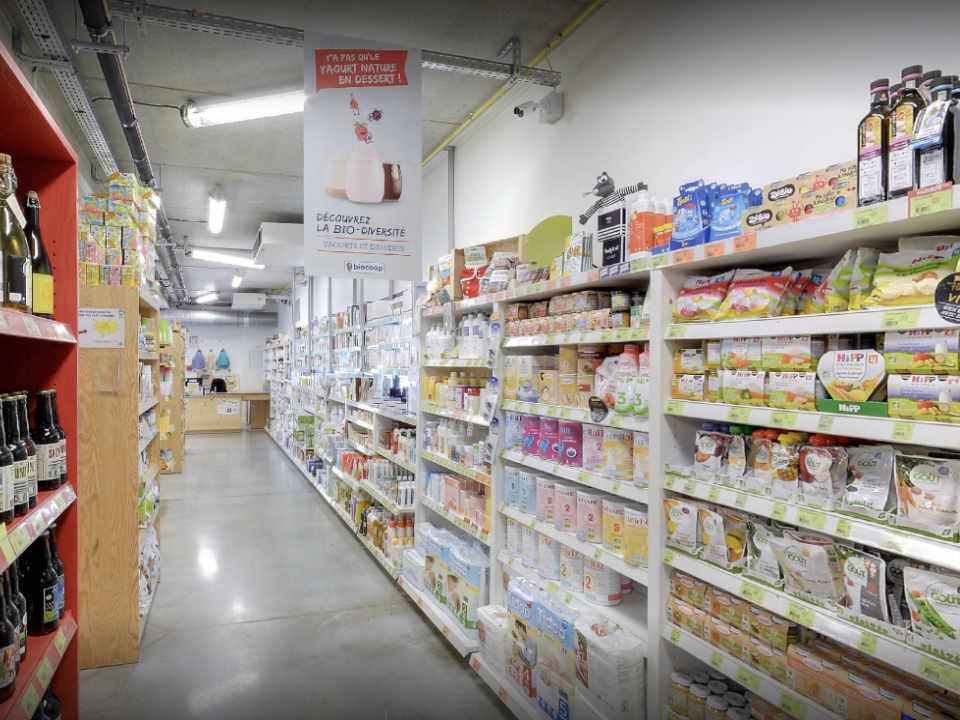 Épicerie alimentation biologique locale Scarabée Biocoop Bruz Bretagne France Ulocal produit local achat local