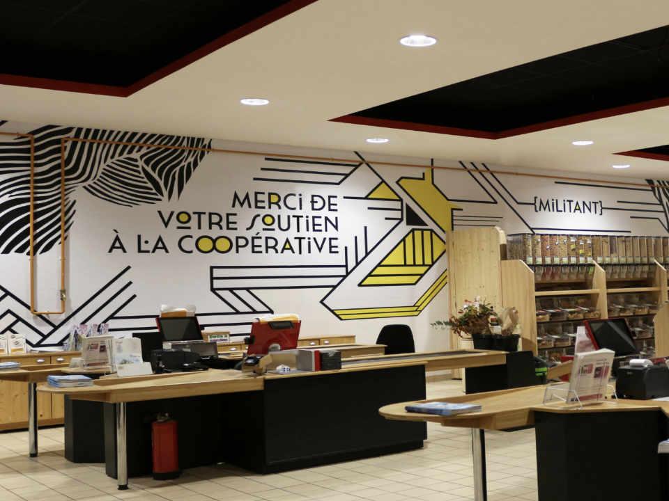Épicerie alimentation biologique locale Scarabée Biocoop St-Grégoire Bretagne France Ulocal produit local achat local