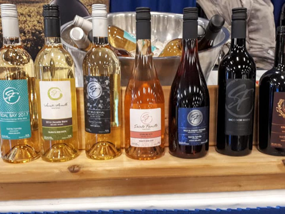 vineyard family yard grapes wines falmouth nova scotia canada ulocal local products local purchase local produce locavore tourist