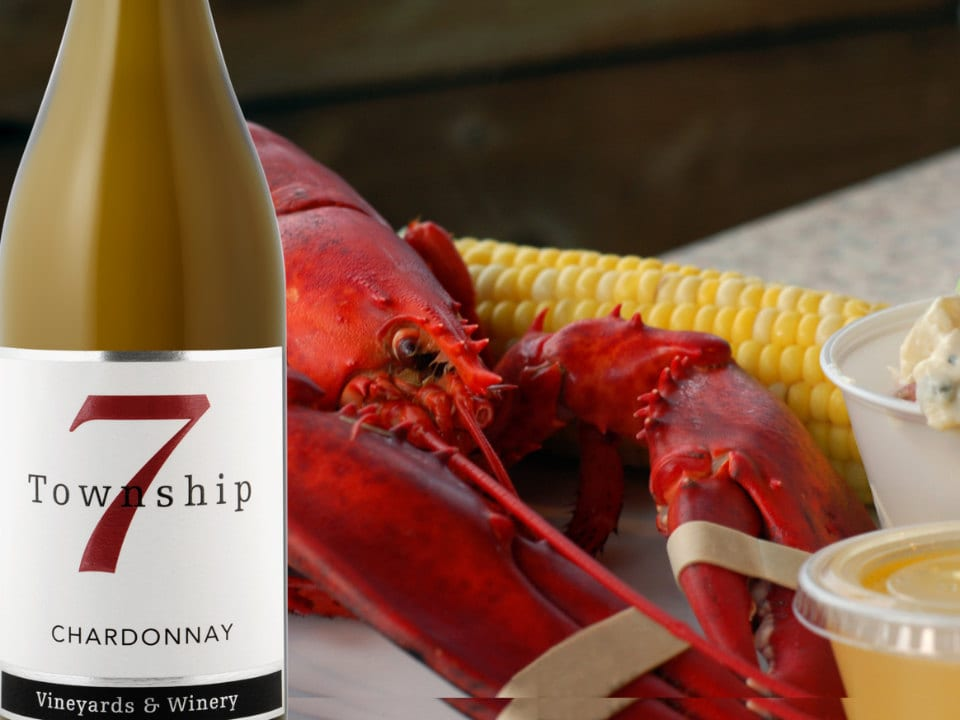 vignoble homard accompagné de notre délicieux vin primé township 7 vineyards and winery langley city colombie britannique canada ulocal produits locaux achat local produits du terroir locavore touriste