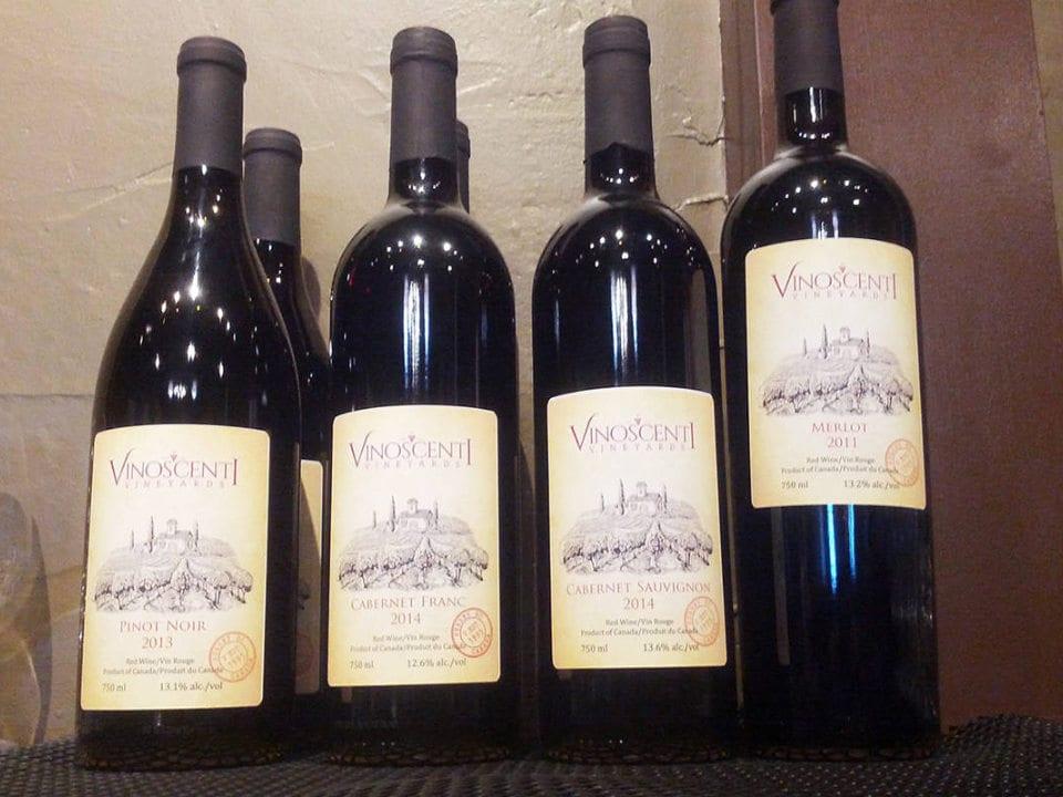 vignoble bouteilles de vin rouge vinoscenti vineyards surrey british colombia canada ulocal produits locaux achat local produits du terroir locavore touriste
