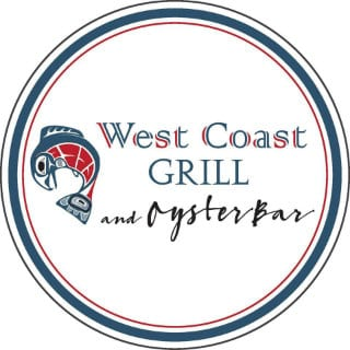 restaurant logo west coast grill and oyster bar souke souke colombie britannique canada ulocal produits locaux achat local produits du terroir locavore touriste