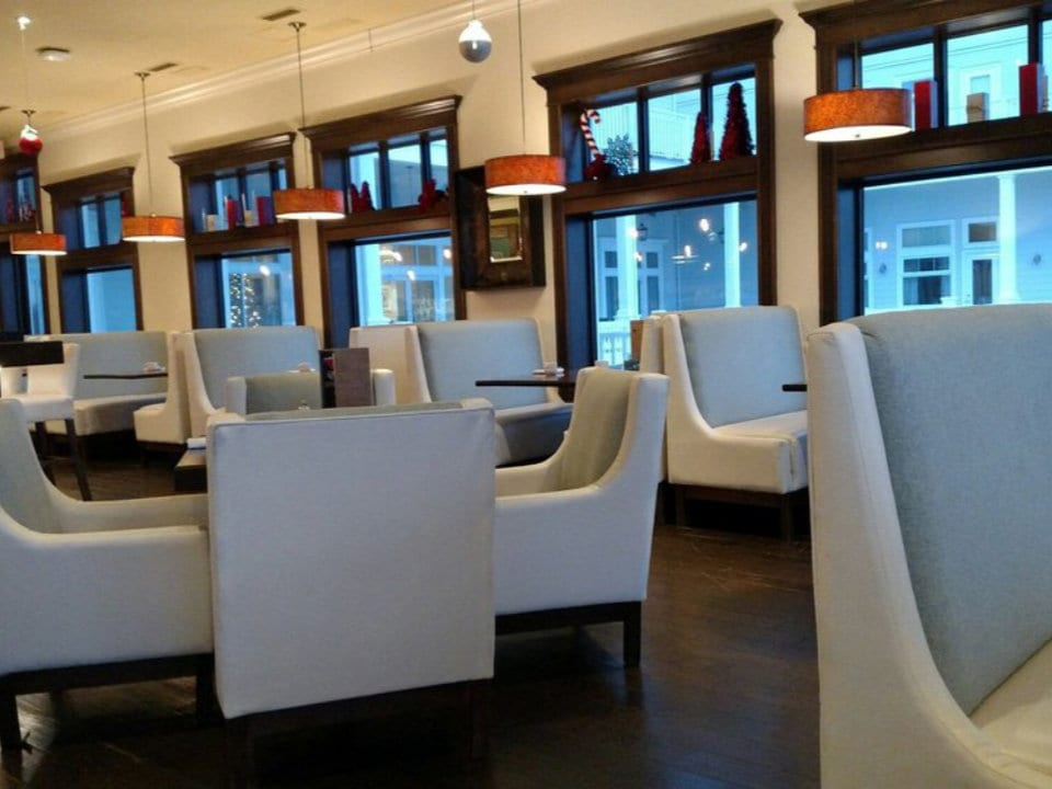 restaurant white leather chair indoor lounge modern dinning room west coast grill and oyster bar souke souke british columbia canada ulocal local products local purchase local produce locavore tourist