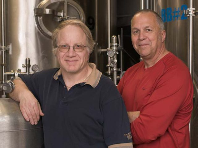 microbreweries bob and alan 2 master brewer owners in craft beers factory yukon brewing whitehorse yukon canada ulocal local products local purchase local produce locavore tourist