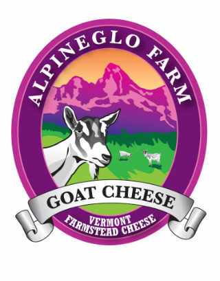 Cheese factory logo AlpineGlo Farm Westminster Vermont USA Ulocal local product local purchase