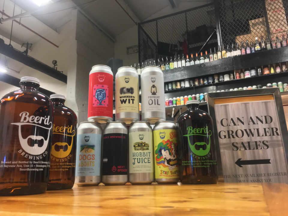 Microbrasserie Cannettes de bière Beer'd Brewing Co. Stonington Connecticut États-Unis Ulocal produit local achat local