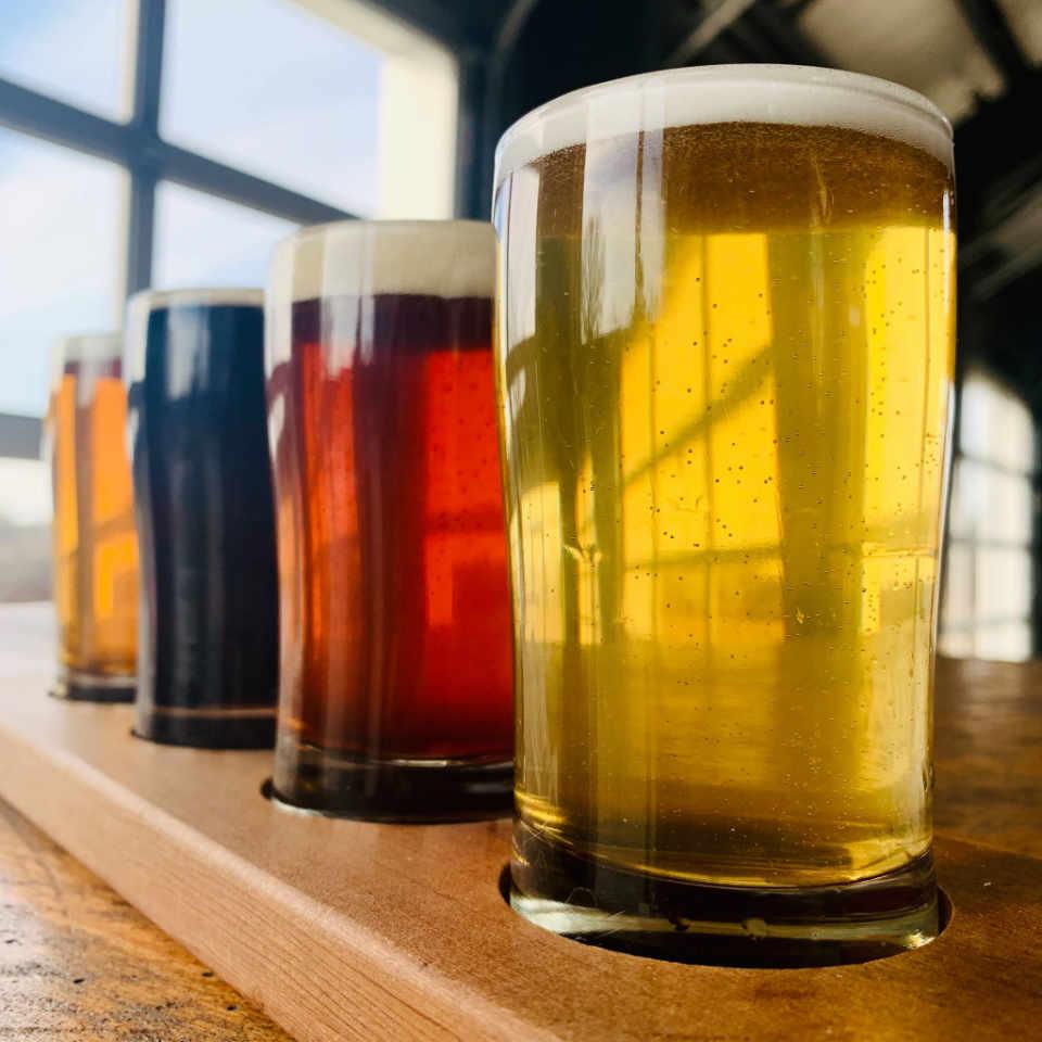 Microbrasserie verres de bière Buzzards Bay Brewing Westport Massachusetts États-Unis Ulocal produit local achat local