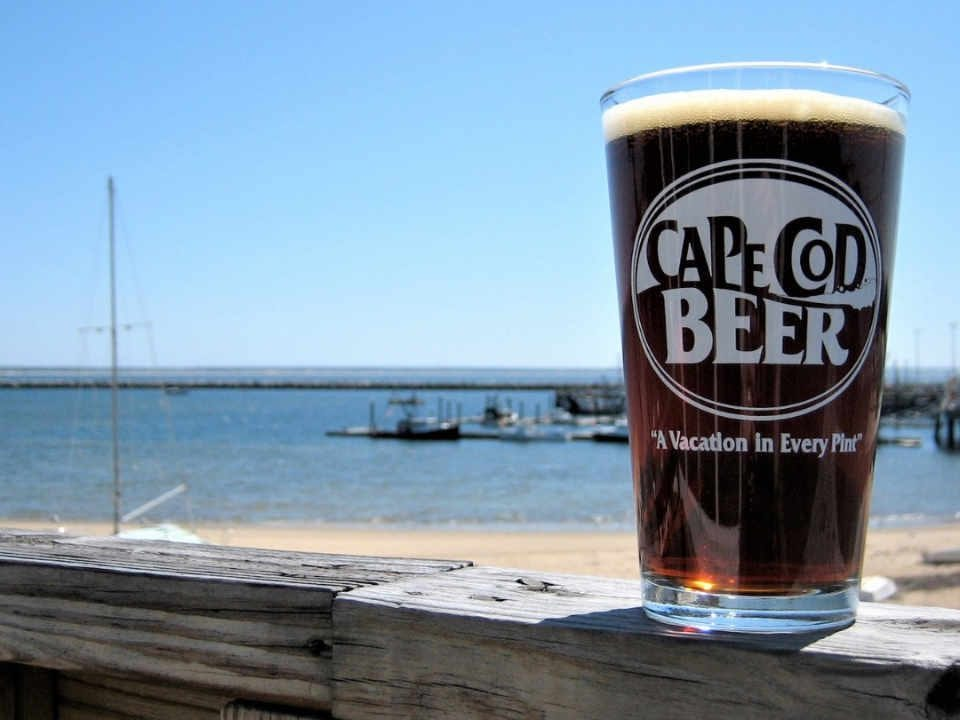 Microbrewery beer glass Cape Cod Beer Hyannis Massachusetts United States Ulocal local product local purchase