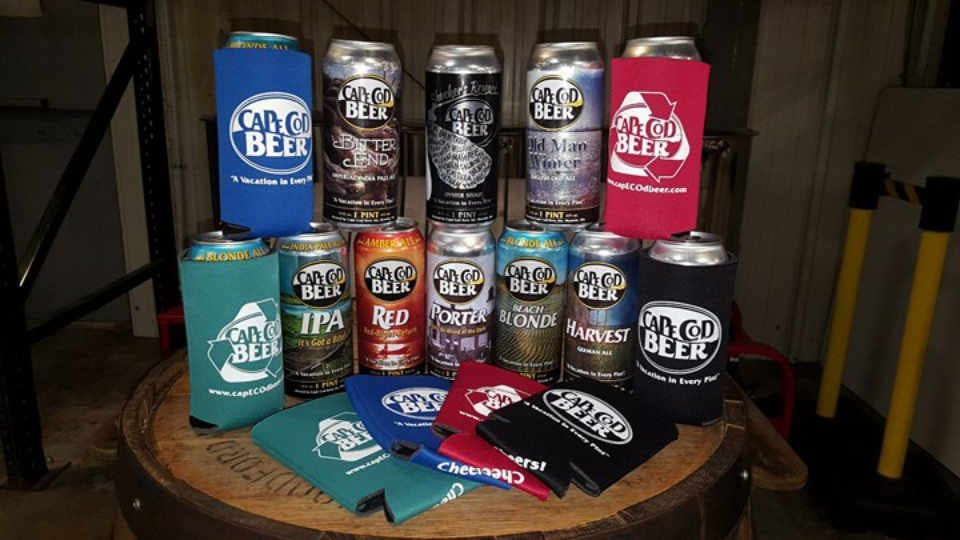 Microbrewery beer cans Cape Cod Beer Hyannis Massachusetts United States Ulocal local product local purchase