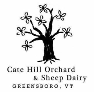 Cheese Factory logo Cate Hill Orchard & Sheep Dairy Greensboro Vermont USA Ulocal Local Product Local Purchase