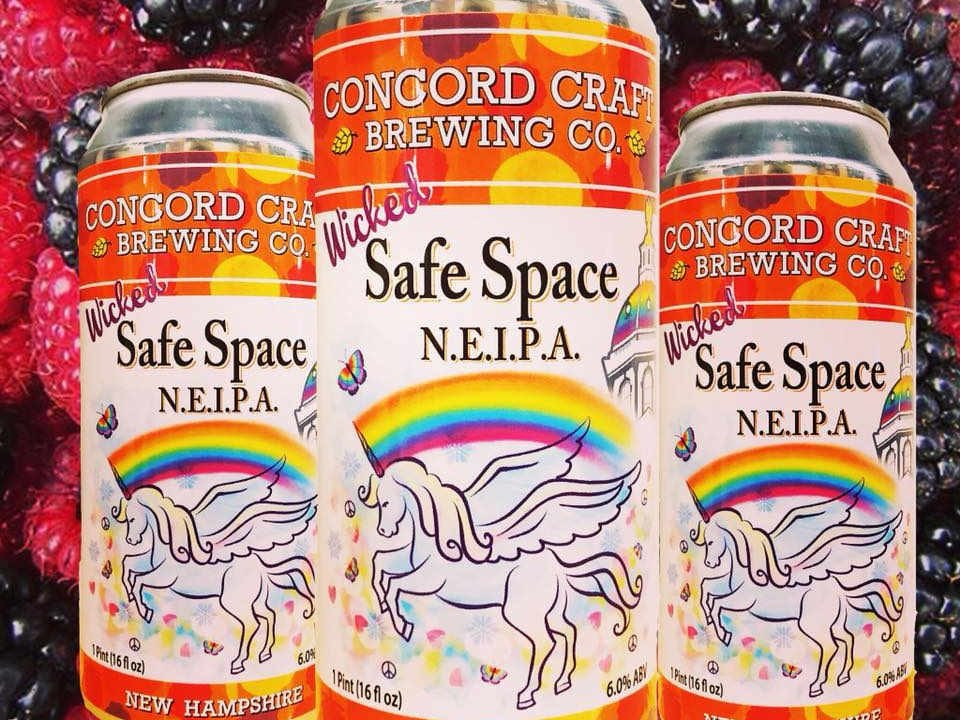 Microbrewery Beer Cans Concord Craft Brewing Co. Concord New Hampshire USA Ulocal Local Product Local Purchase