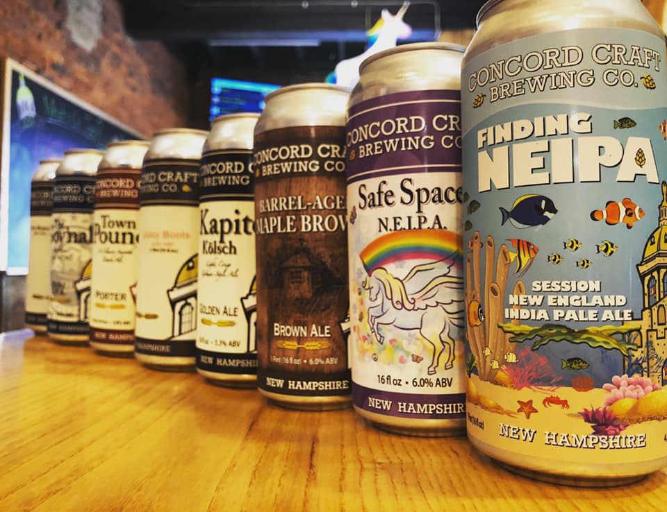 Microbrasserie canettes de bière Concord Craft Brewing Co. Concord New Hampshire États-Unis Ulocal produit local achat local