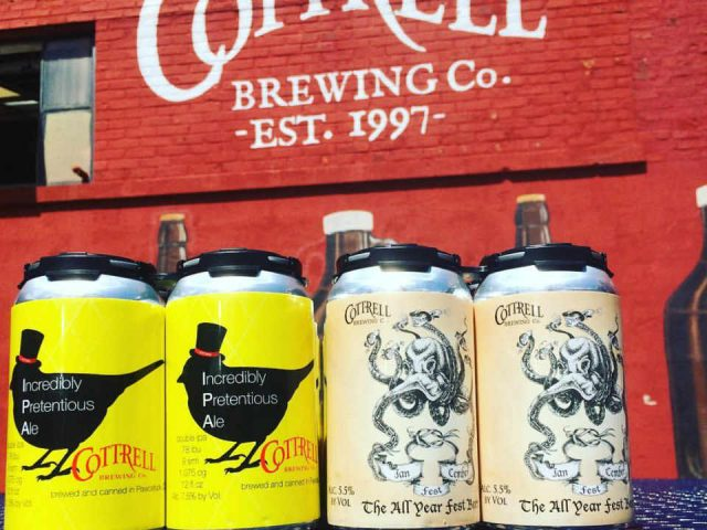 Microbrewery beer cans Cottrell Brewing Co. Pawcatuck Connecticut United States Ulocal Local Product Local Purchase