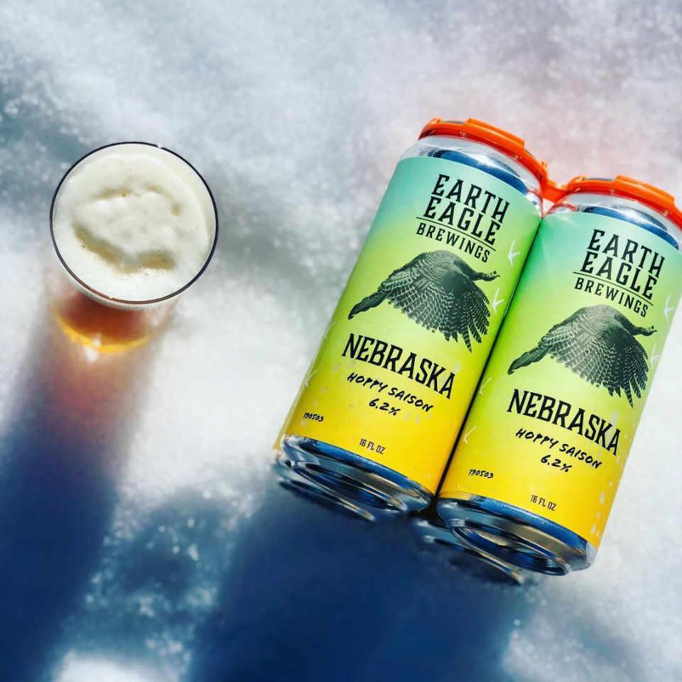 Microbrasserie canettes de bière Earth Eagle Brewings Portsmouth New Hampshire États-Unis Ulocal produit local achat local