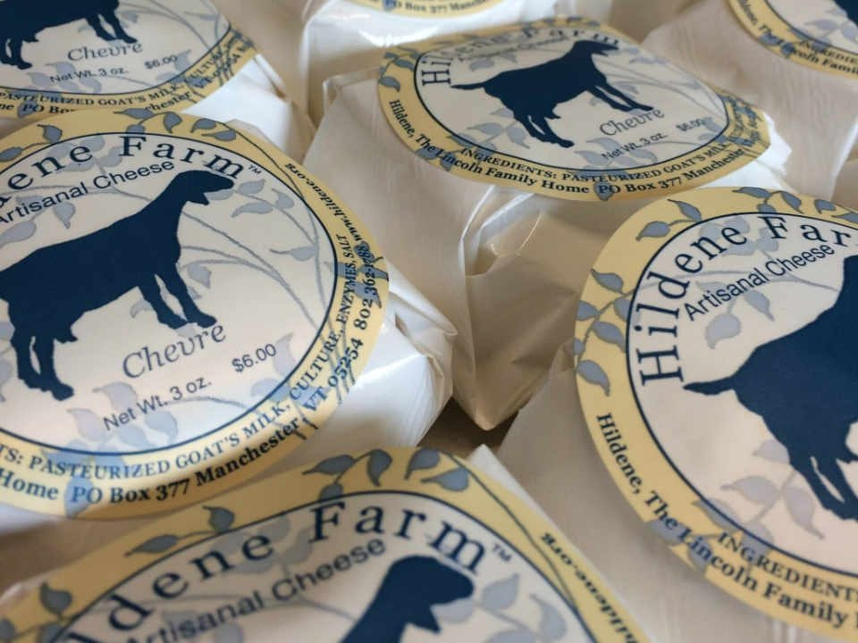 Cheese factory Cheese Hildene Farm & Goat Dairy Manchester Center Vermont USA Ulocal Local Product Local Purchase