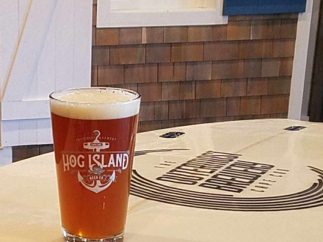 Microbrasserie verre de bière Hog Island Beer Co. Orleans Massachusetts États-Unis Ulocal produit local achat local
