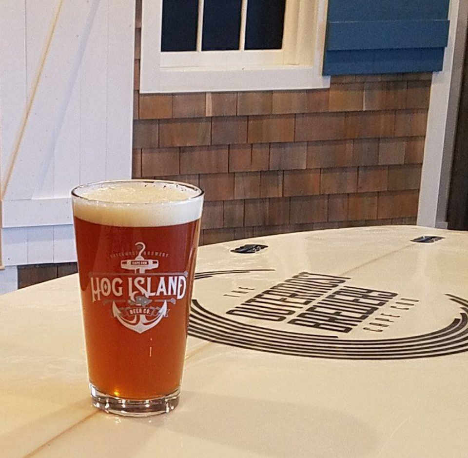 Microbrewery Beer Glass Hog Island Beer Co. Orleans Massachusetts United States Ulocal Local Product Local Purchase