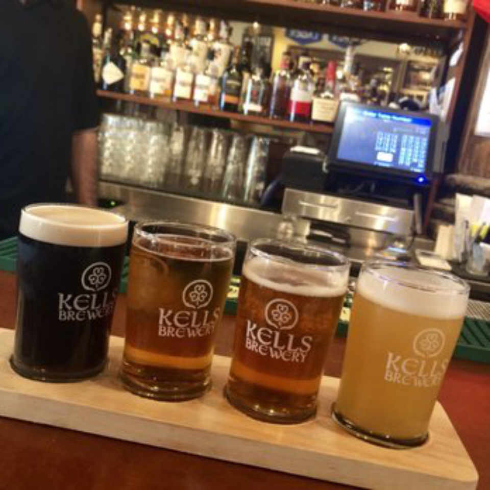 Microbrewery beer glasses The Kells Beer Company Natick Massachusetts United States Ulocal local product local purchase