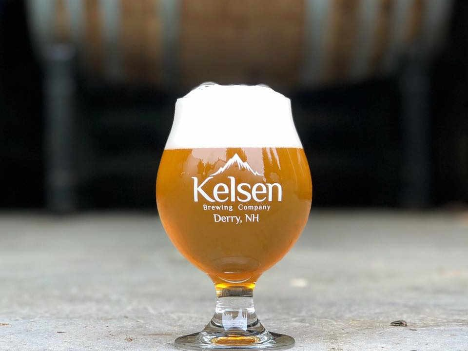 Microbrewery beer glass Kelsen Brewing Company Derry New Hampshire USA Ulocal Local Product Local Purchase