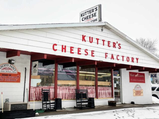 Fromagerie magasin Kutter's Cheese Factory Store Corfu New York États-Unis Ulocal produit local achat local