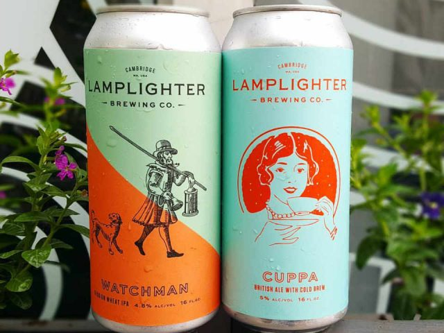 Microbrewery beer cans Lamplighter Brewing Company Cambridge Massachusetts United States Ulocal local product local purchase